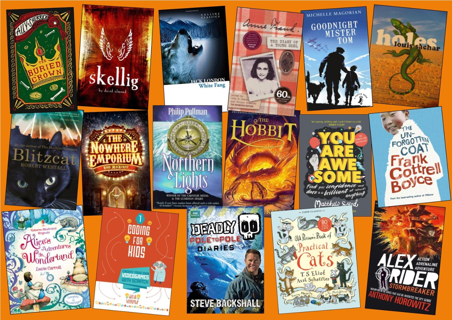 Year 6 Reading List Poster 2019 - 2020